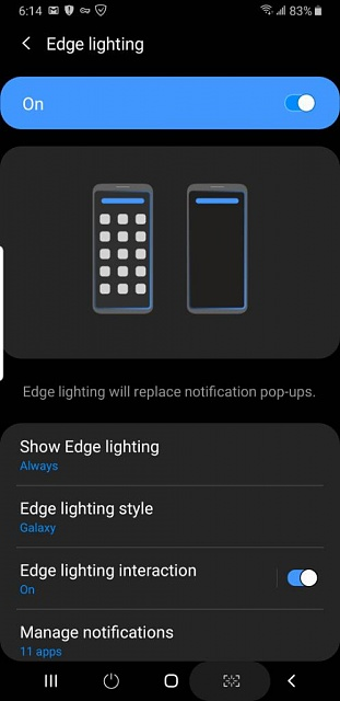 edge lighting android forums at