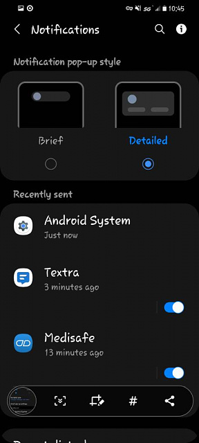 s20 edge lighting is gone android