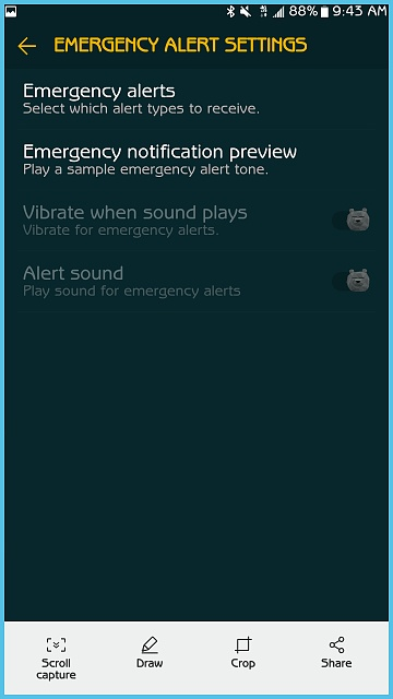 Cant Find Emergency Alerts Settings Samsung G S7E