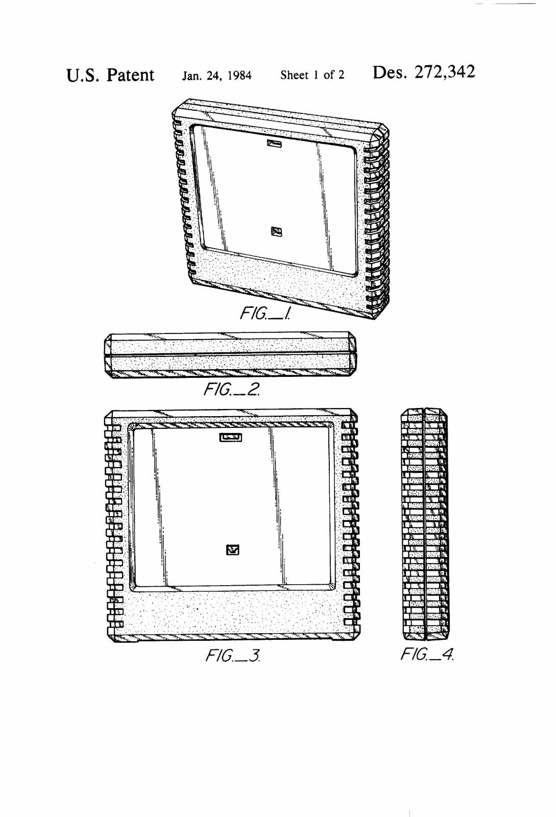Atari Console Game Cart And Controller Patent