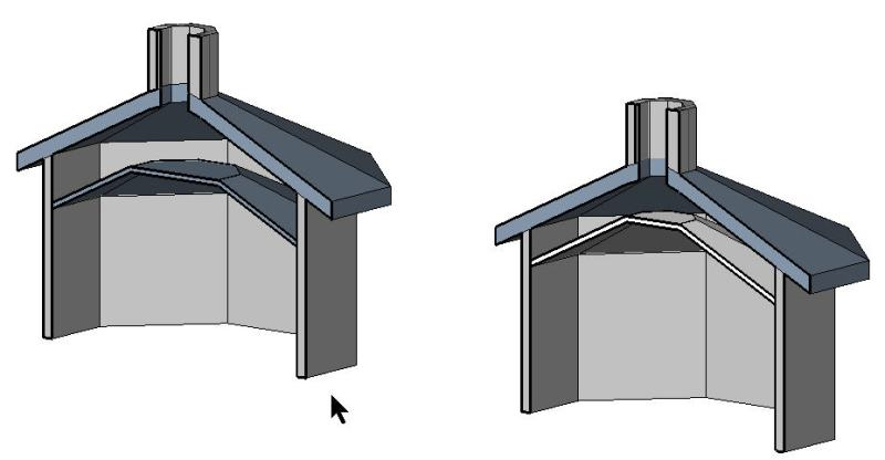 how to draw a sloped roof in revit