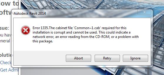 error 1335 the cabinet file | Nrtradiant.com