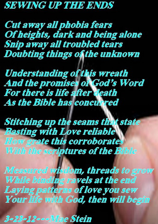 SEWING UP THE ENDS Spiritual Poetry