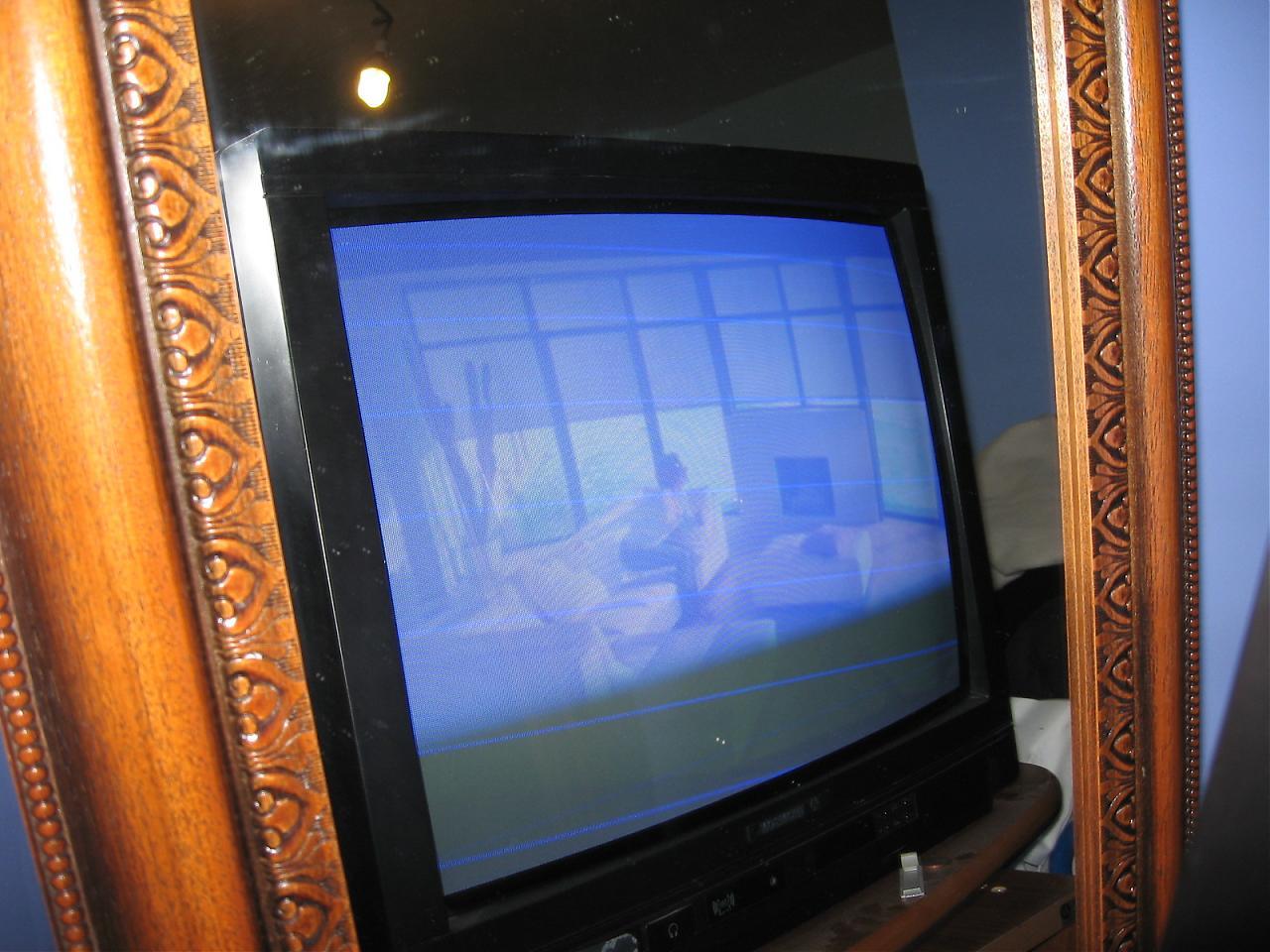brun ecran bleu sur tv thomson