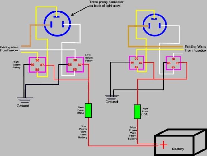 headlight wiring diagram relay. headlight. wiring diagram instructions, Wiring diagram