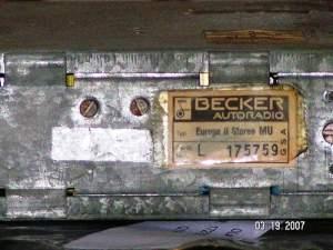 70's Becker Radio Wiring  Pelican Parts Forums