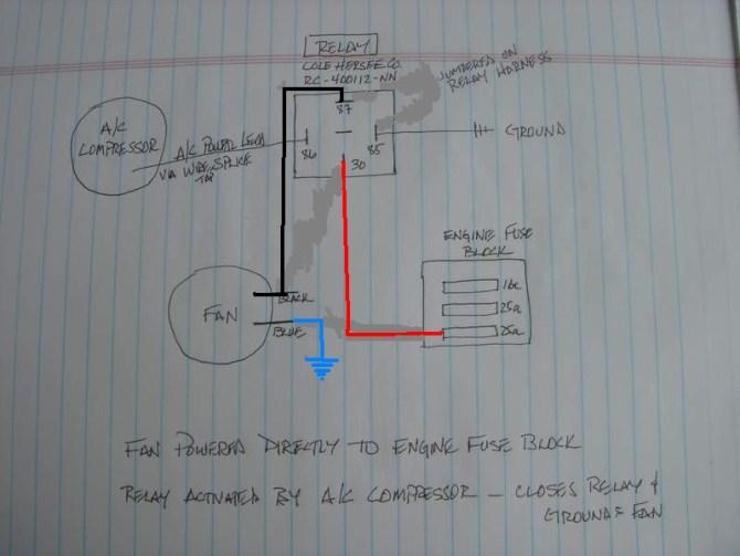 rear a/c condenser fan relay wiring diagram  pelican parts