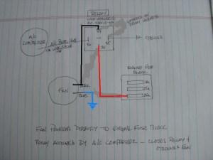 Rear AC condenser fan relay wiring diagram  Pelican Parts Forums