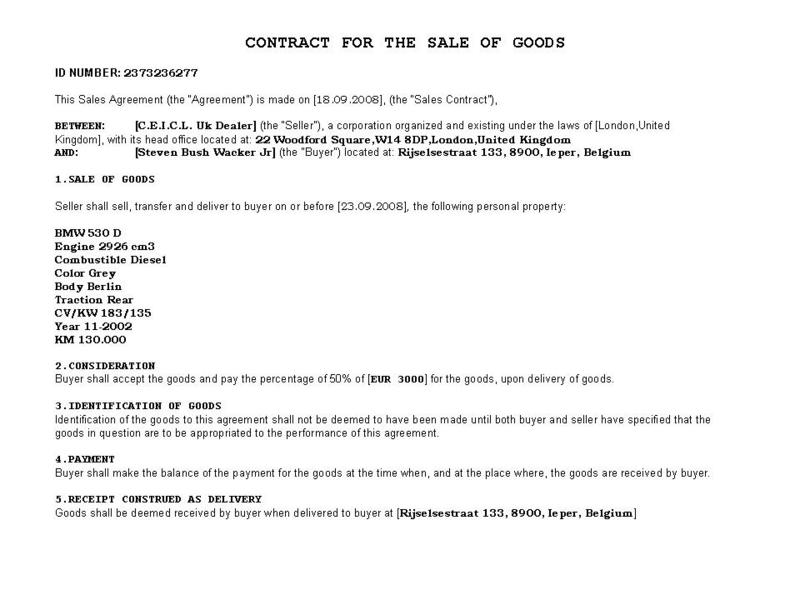 motorcycle bill of sale free microsoft word templates private car – Car Selling Contract Template