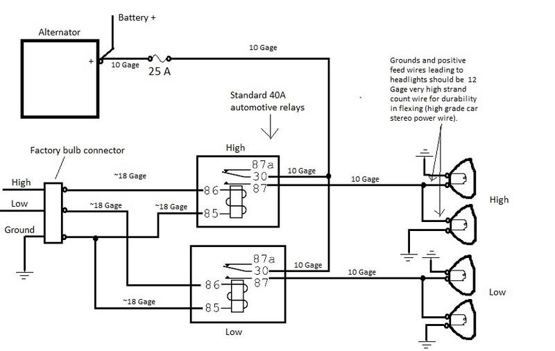 '75 280Z Headlight Relay Upgrade