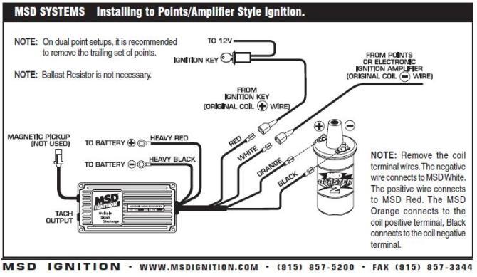 billet distributor with msd 6al wiring diagram  4 flat wire