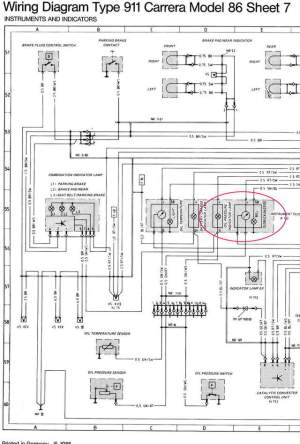 Wiring diagram for '87 Oil Temp  Pressure gauge