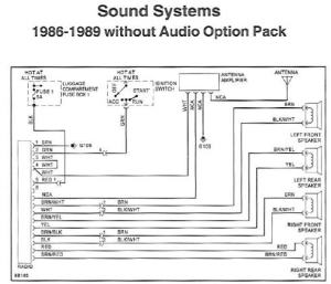 Radio Wiring Diagram or Chart?  1989 32L Targa  Pelican
