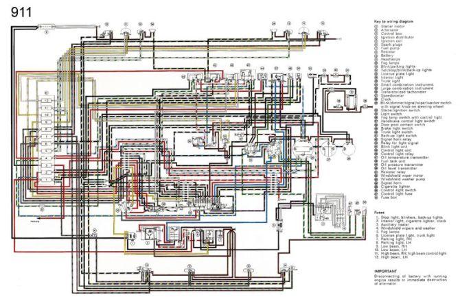 porsche 911 wiring diagrams free download  description