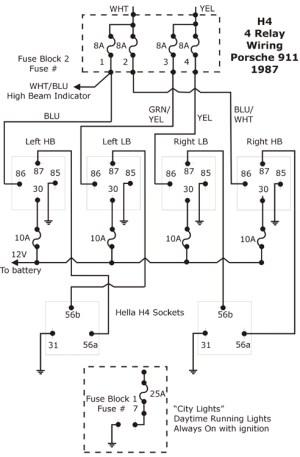 H4 Conversion  4 Relay Wiring Diagram  Pelican Parts Forums