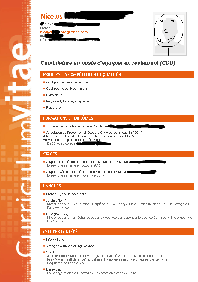 Cv Et Lettre De Motivation Mcdonald S Cv Et Lettres De Motivation Forums Studyrama