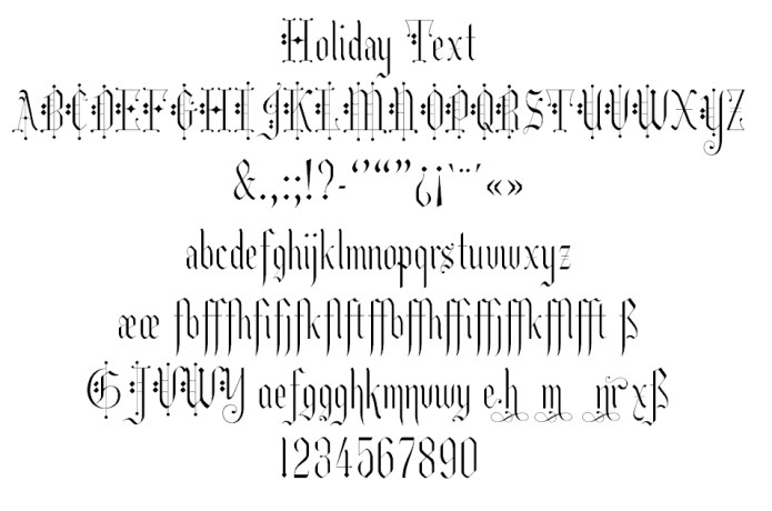Holiday-Text
