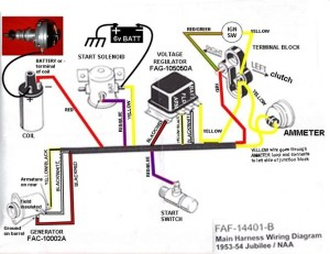 53 Ford Jubilee wiring diagram  Ford Forum  Yesterday's