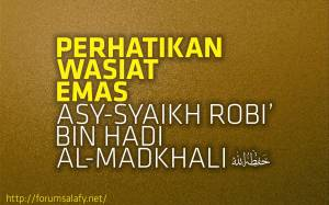 wasiat-emas-syaikh-robi'