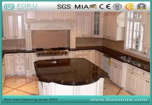 Hot Sale Tan Brown Bathroom Vanity Tops And Counter Tops