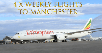 Ethiopian Airlines 4x Weekly to Manchester