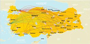 Pegasus cargo flight route across Turkey