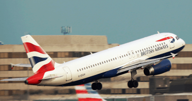 British Airways Passenger flight taking off