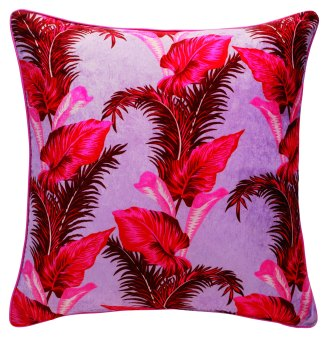 EMBARGO UNTIL 28.04.2016 - House of Holland x Habitat - Tropical Leaf reversible cushion 60x60cm - Side 1 - £60.00