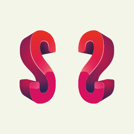 Two letters 's', one in reverse