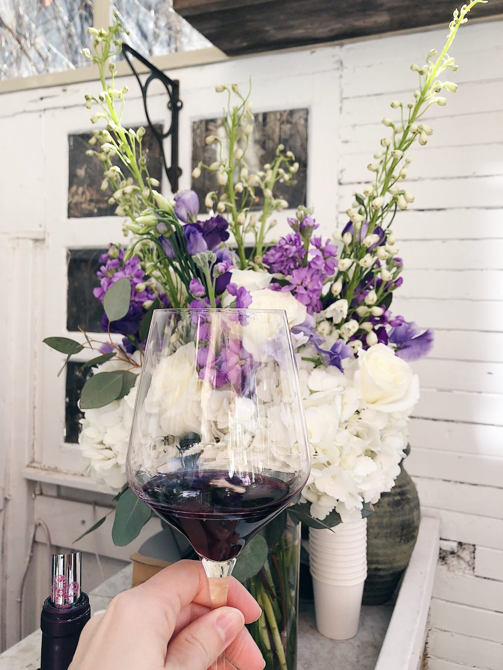 Spring Garden Party and a glass of Fleurie