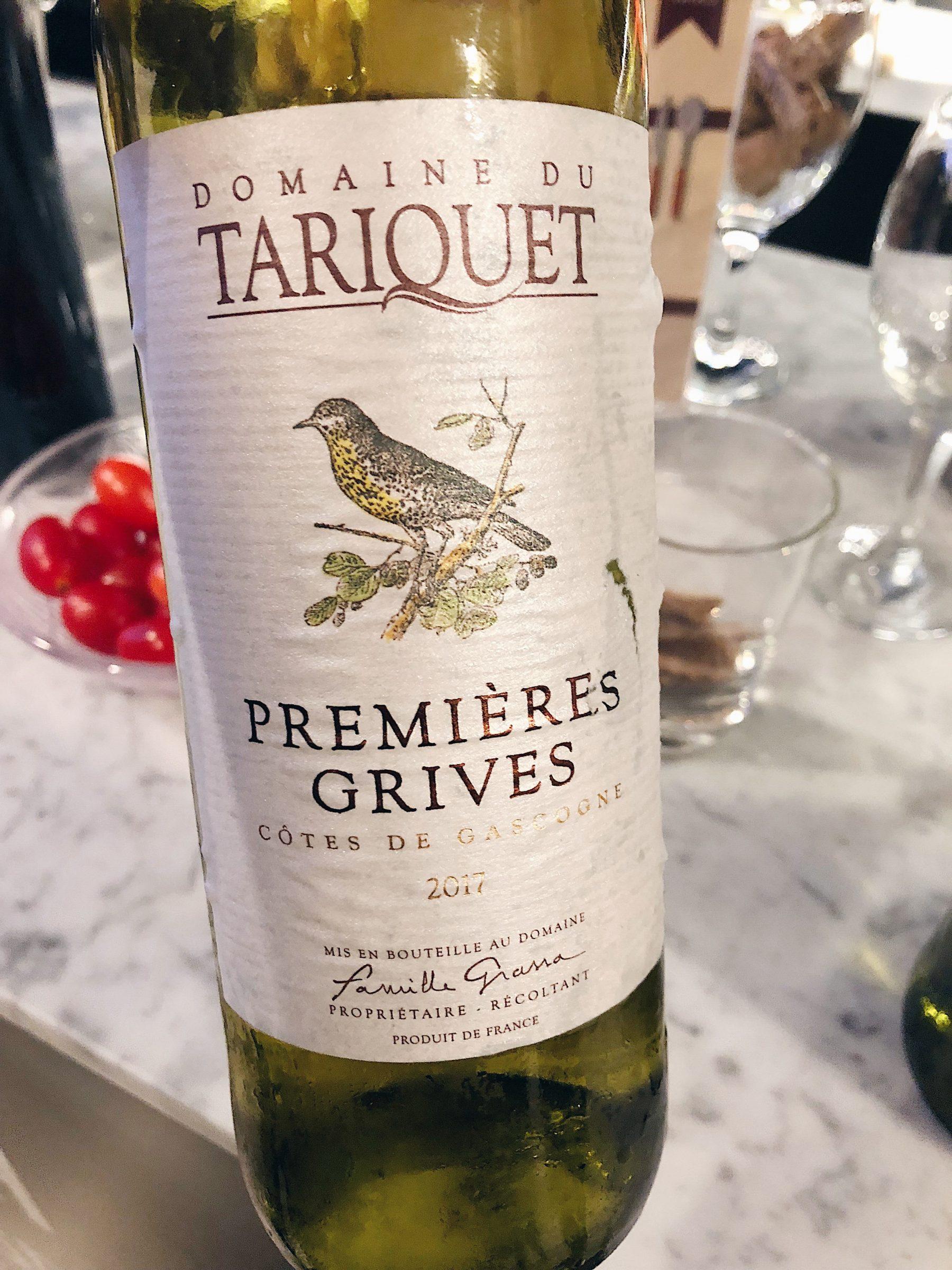 2017 Domaine du Tariquet Premières Grives Côtes de Gascogne IGP