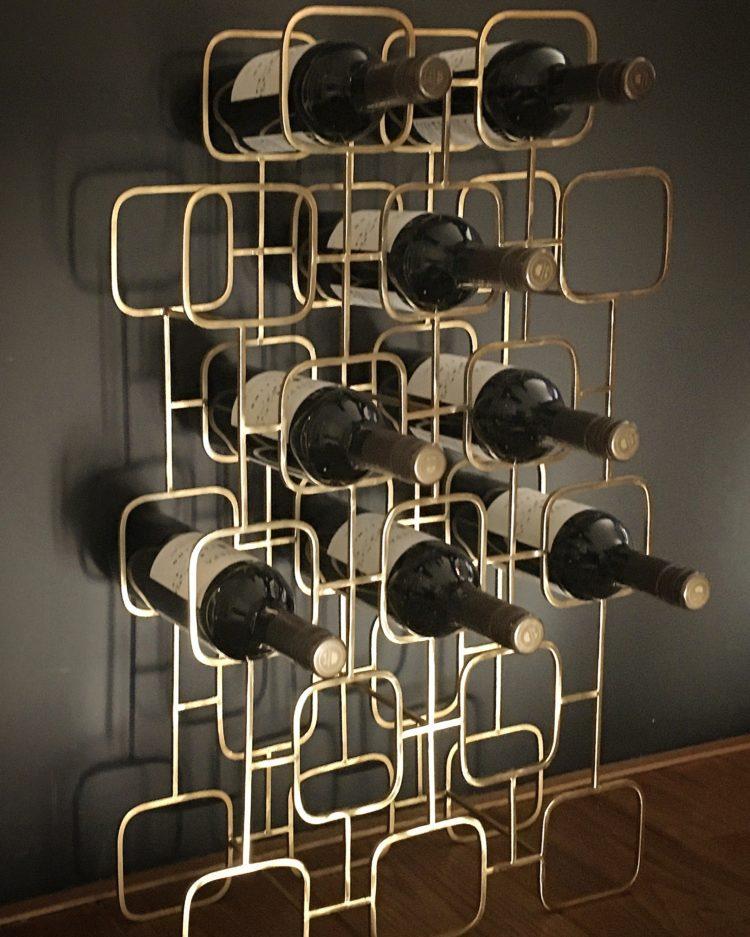 Wijnrek France kleur goud