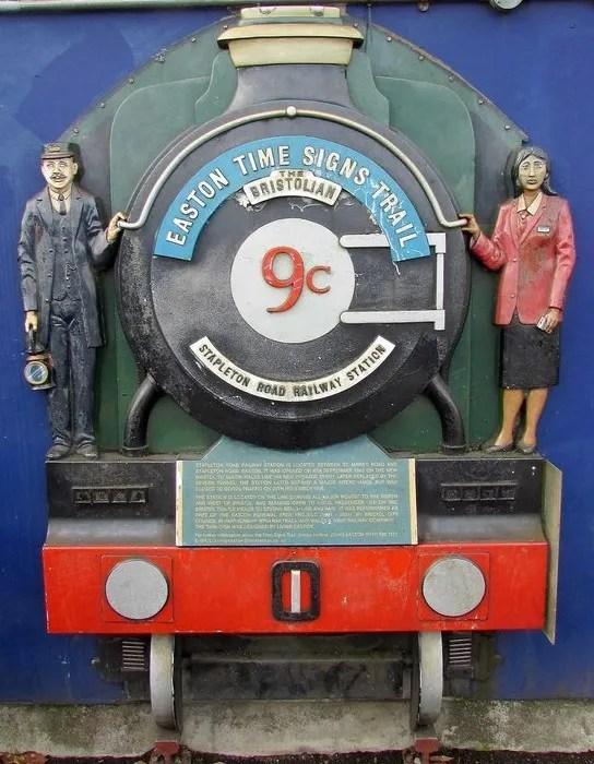 The Bristolian plaque, Platform 1, Stapleton Road