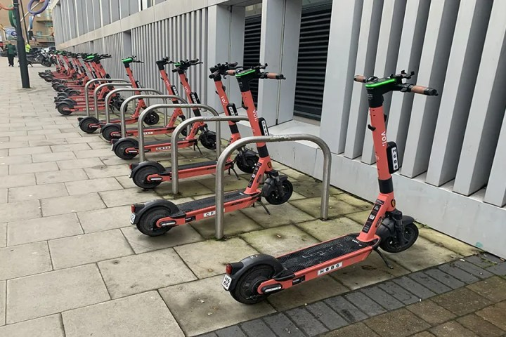 VOI scooters outside BRI