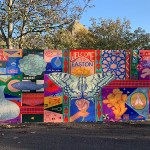 Stapleton Road – entrance from St Marks Road – shipping container makeover by Anna Higgie