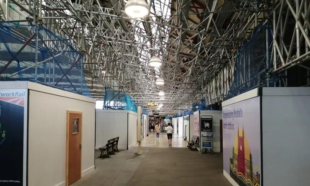 Platform 3 at Bristol Temple Meads - regenaration underway