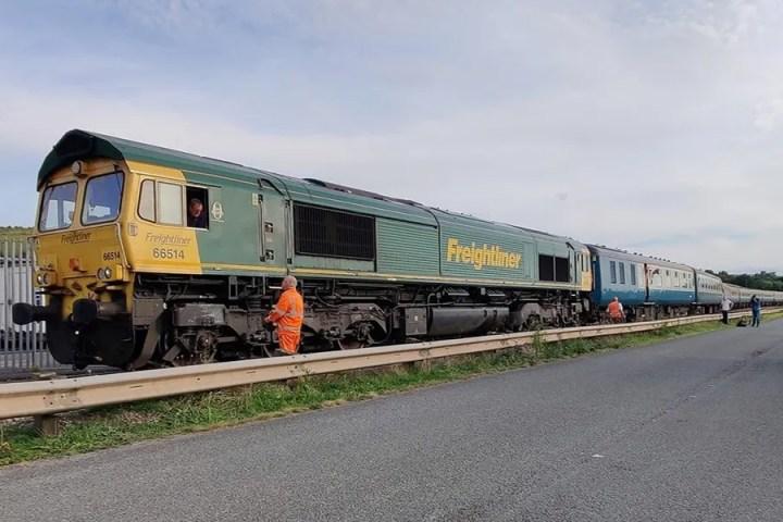 UK Railtours excursion train on Westerleigh Branch 11/09/21 (c) Paul Clark