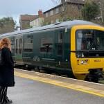 Commuter train pulls into Montpelier