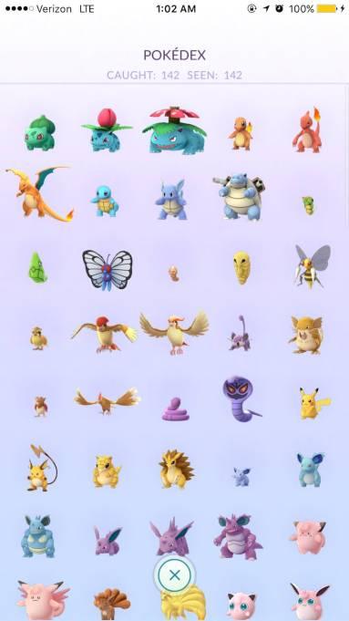 pokemon go catch em all