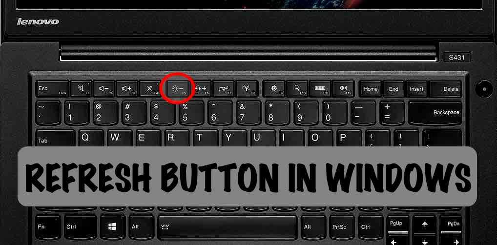 refresh button in windows