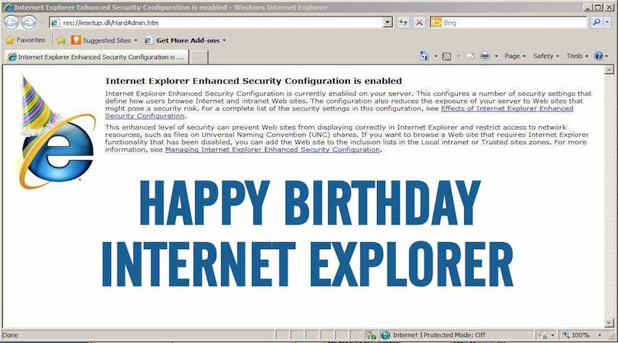 Microsofts Internet Explorer Web Browser Turns 21 Years Old