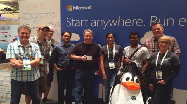 linus torvalds meets microsoft guys linuxcon