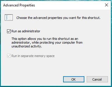 пакетный файл выполнение, как администратор--