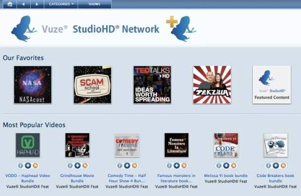 Image: Vuze StudioHD Network