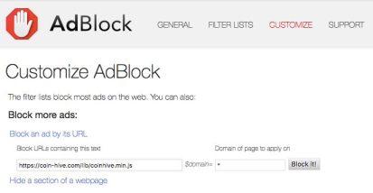 adblock stop mining