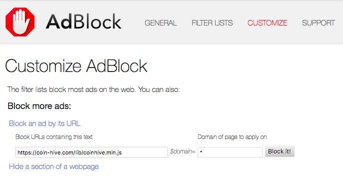 Adblock Chrome Add On
