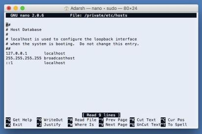 host file editing to block mining script