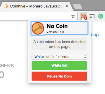 no coin extension