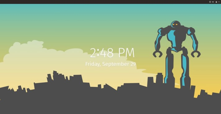 system76 pop!_OS 17.10 lockscreen