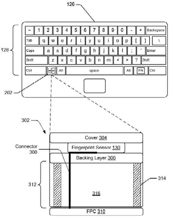 Paten File Microsoft tunjukan Sensor Sidik Jari di Keyboard